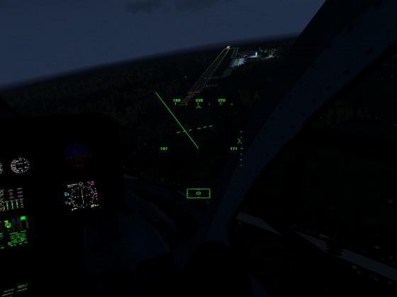 Fliegerhorst Celle bei Nacht